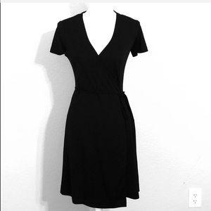 GAP factory Black wrap dress